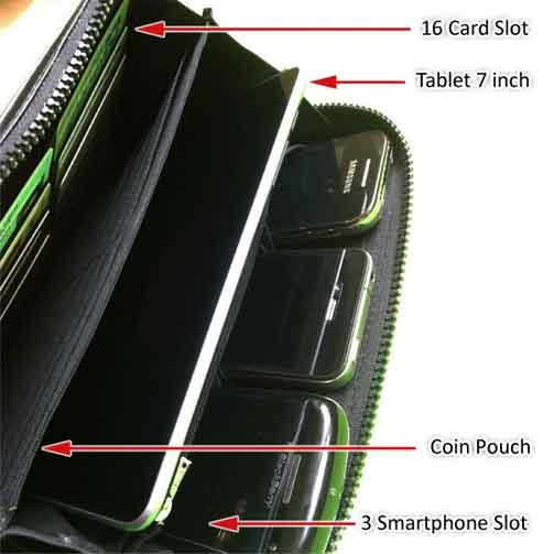 dompet multiple handphone plus 2